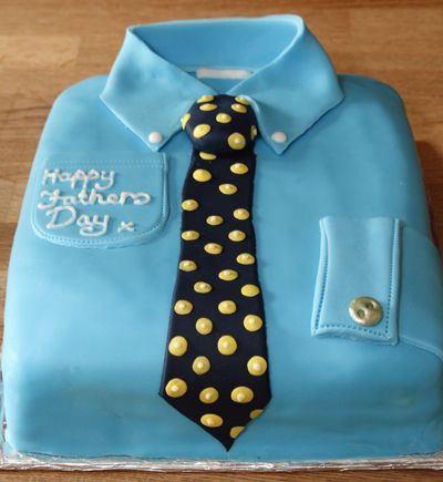 Shirt  Tie Cake Ideal For Fathers Day - Birthday cake shirt