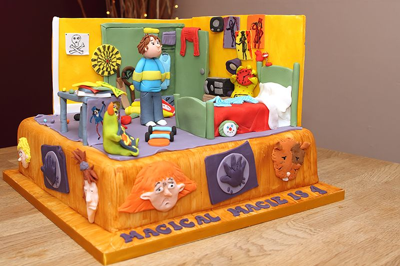 Horrid Henry Cake Henrys Bedroom Reconstructed Using Fondant
