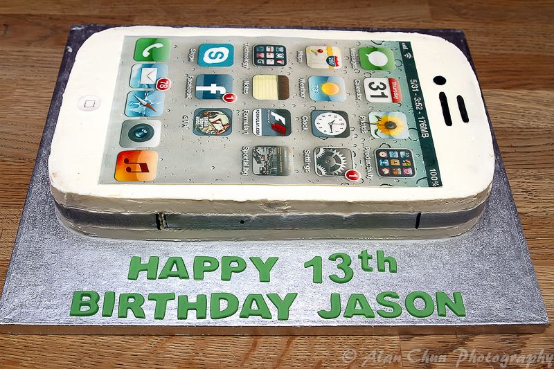 Edible Cake Images Iphone : iPhone cake covered with buttercream and edible fondant ...