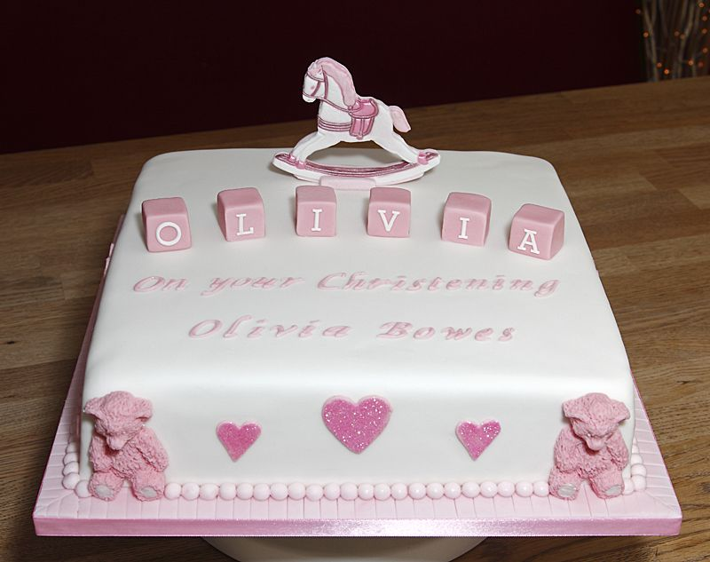 Cake Designs For Christening Baby Girl : Christening & Baby Shower Cakes & Cupcakes